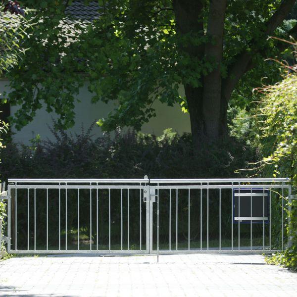 Toranlage 2-flügelig – Metallzaun Stadtweg H: 90cm