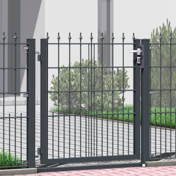 Gartentor Metall Schmuckzaun mit Spitzen 110cm