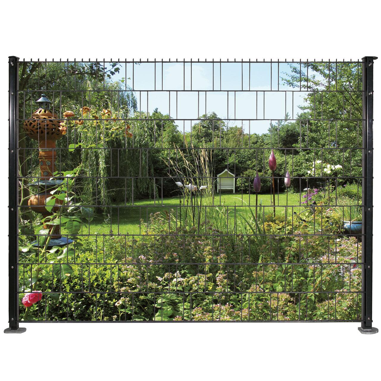 Sichtschutzstreifen Bedruckt Motiv Garten