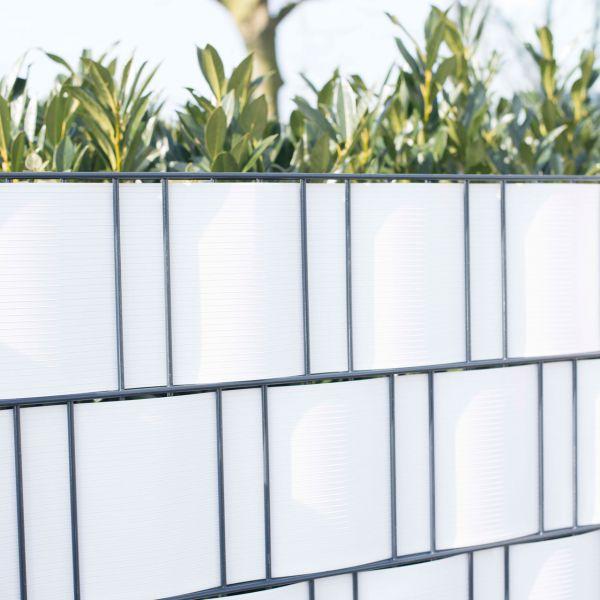 PVC Sichtschutzstreifen Doppelstabmattenzaun, Longlife weiß