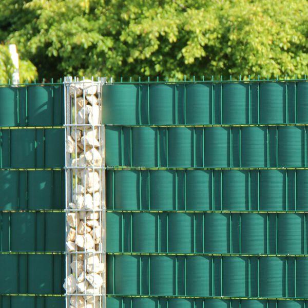 PVC Sichtschutzstreifen Doppelstabmattenzaun, Longlife grün