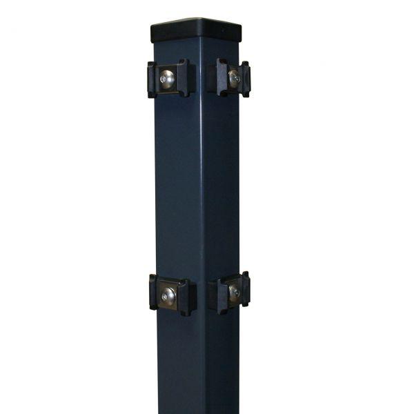 Eckpfosten für Doppelstabmatte anthrazit 200cm