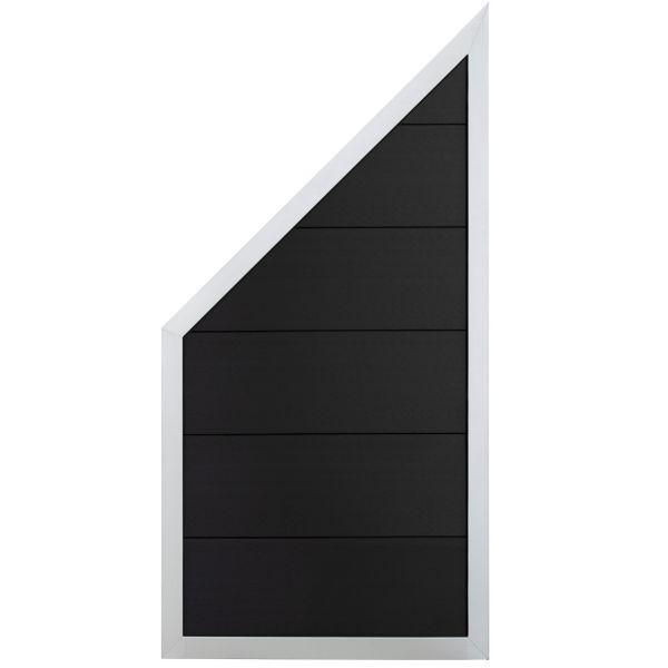 Sichtschutz WPC Designzaun Viento, ziegelgrau