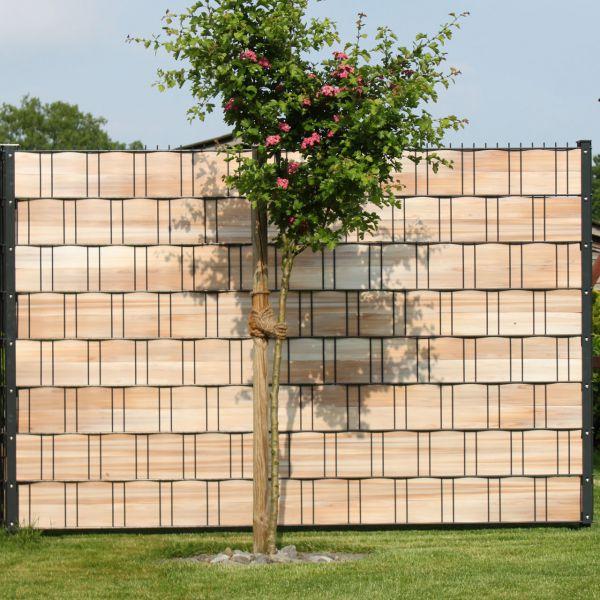 Sichtschutzstreifen Hart-PVC, Woodline hellbraun