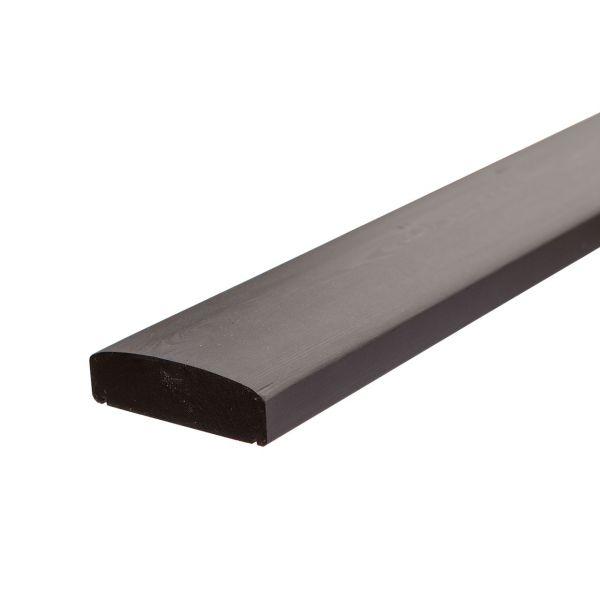 Handlauf Kernholz, Geländer für 9x9 Pfosten, schwarz