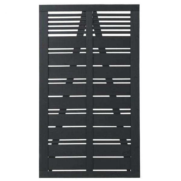 Tür zu Sichtschutz Holz, Silence schwarz