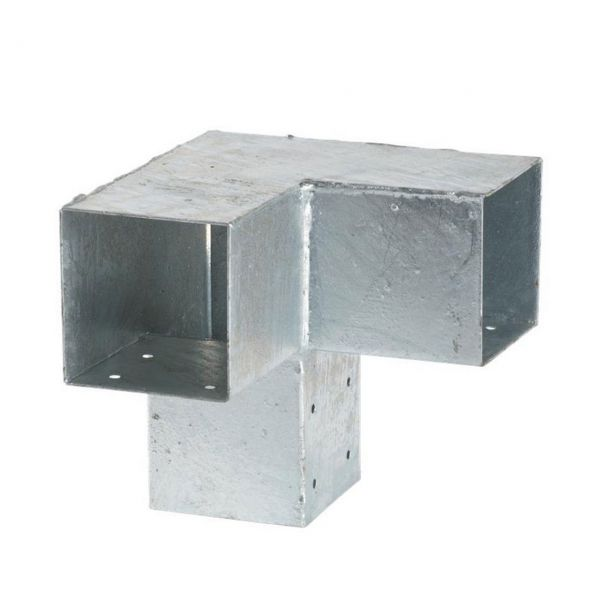 Cubic Doppelter Eckbeschlag 90°, 3 für 9 x 9 cm Pfosten