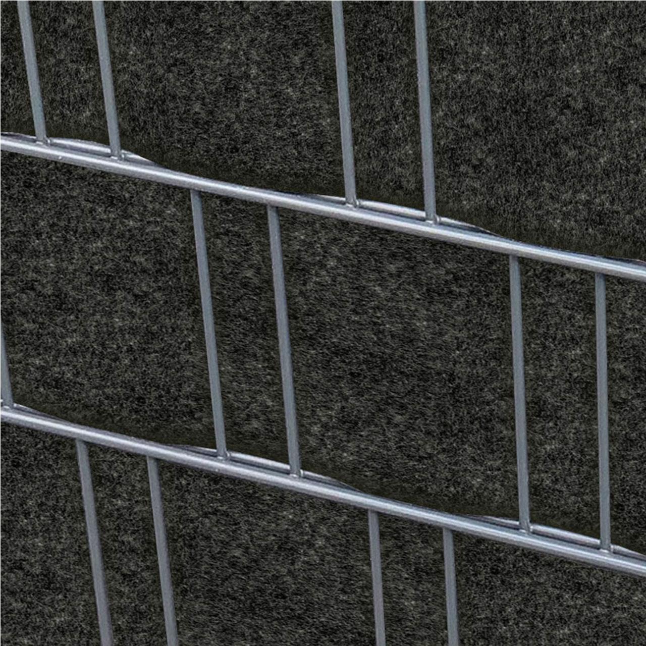 Sichtschutzstreifen Pes Gewebe Fur Stabgitterzaun Anthrazit