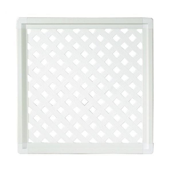 Kunststoffzaun Oxford, Diamant weiß