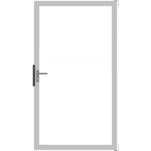 Tor Sichtschutz Glaszaun Ambiente, Klarglas/alu