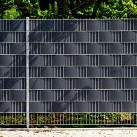 PVC Sichtschutzstreifen Doppelstabmattenzaun, Longlife anthrazit Höhe x Länge:19 x 255 cm