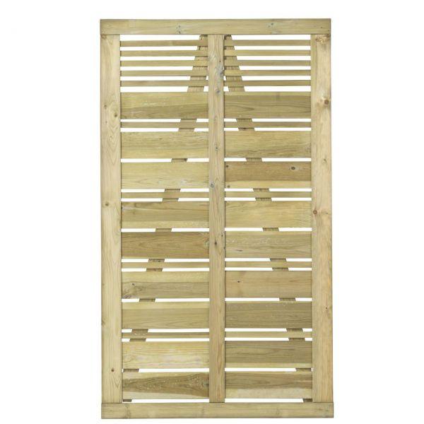 Tür zu Sichtschutz Holz, Silence druckimprägniert