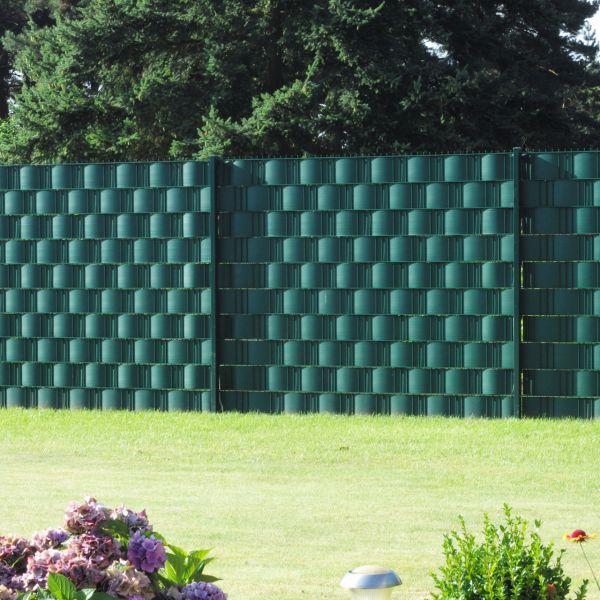 Sichtschutzstreifen Hart-PVC, Woodline grün