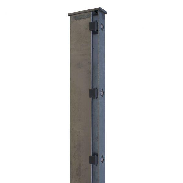 Zaunpfosten für Sichtschutzstreifen 160cm, verzinkt