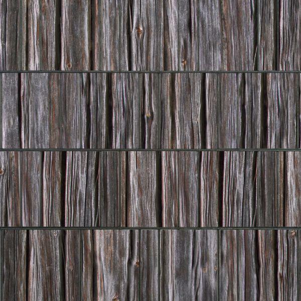 Sichtschutzstreifen bedruckt, Motiv Holzbohlen