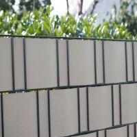 PVC Sichtschutzstreifen Doppelstabmattenzaun, Longlife aluminium Höhe x Länge:19 x 200 cm