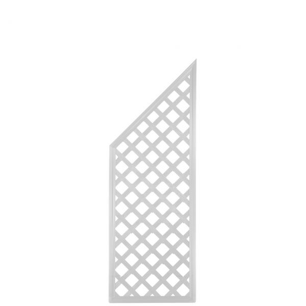 Sichtschutzwand Kunststoff Coventry, Classic Abschlusselement, weiß