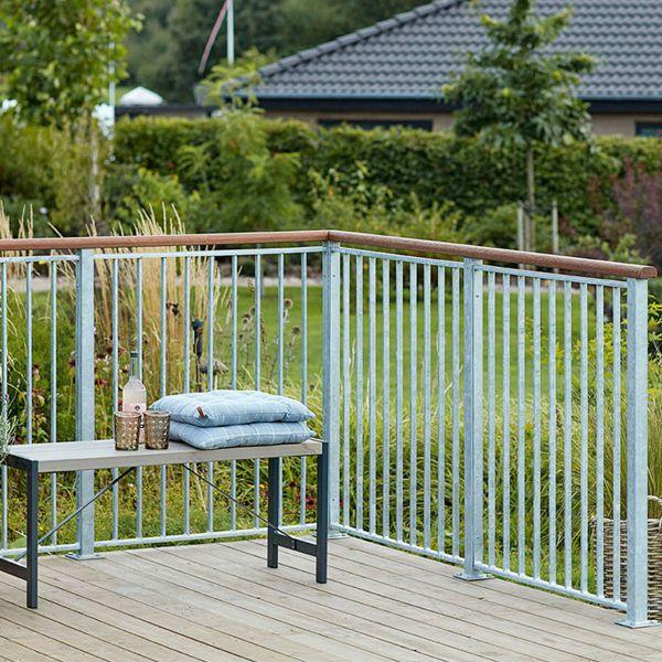 Terrassengeländer Stahl-Element, verzinkt