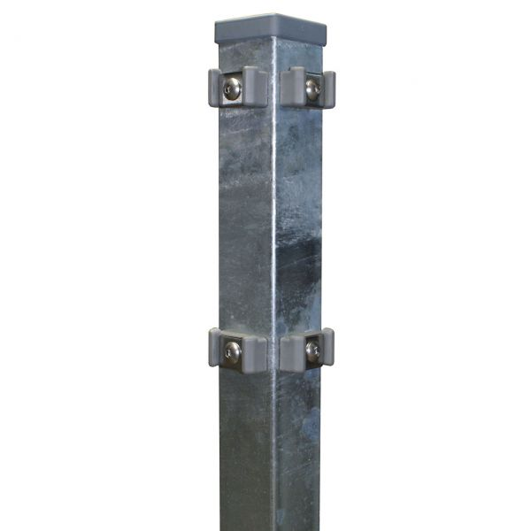 Eckpfosten für Doppelstabmatte 180cm, verzinkt