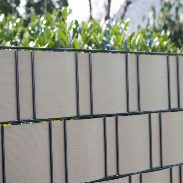 PVC Sichtschutzstreifen Doppelstabmattenzaun, Longlife aluminium