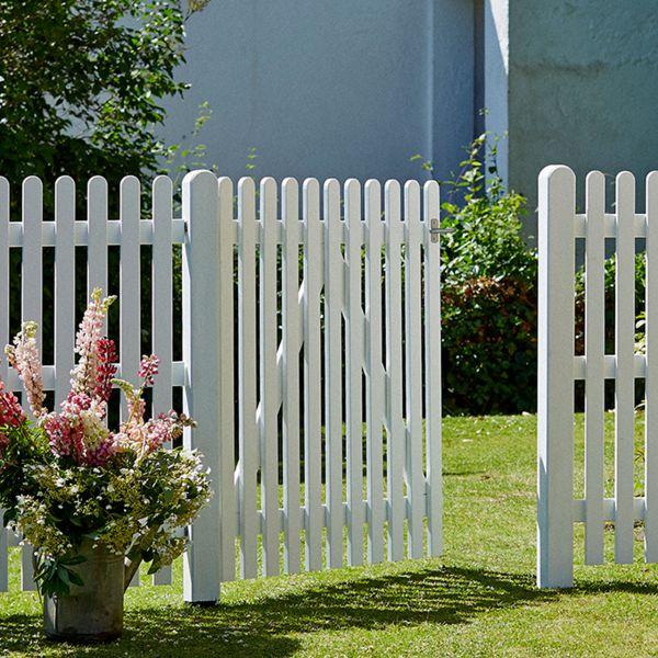 Gartenzaun Holz Stockholm, weiß 120 cm