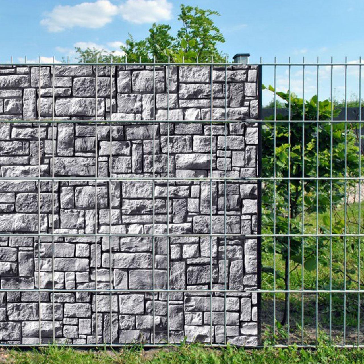 Sichtschutzstreifen Bedruckt Motiv Steinlabyrinth Zermatt