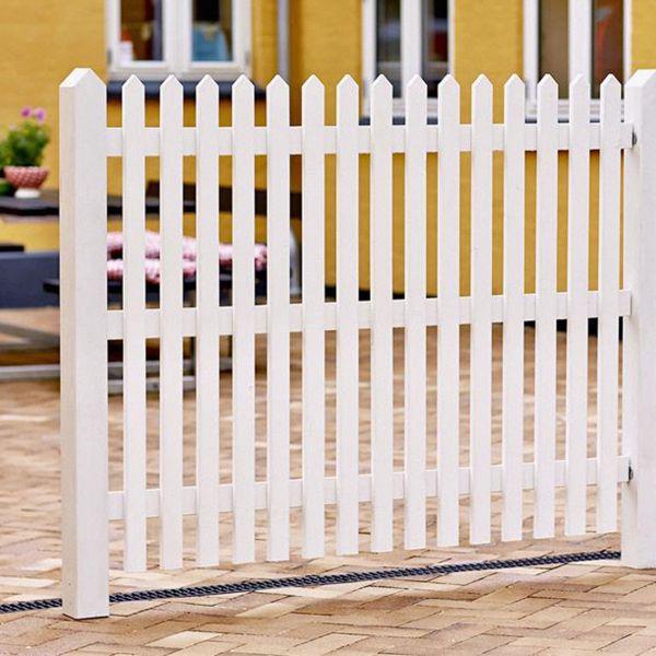 Gartenzaun Holz Skagen, weiß 120 cm