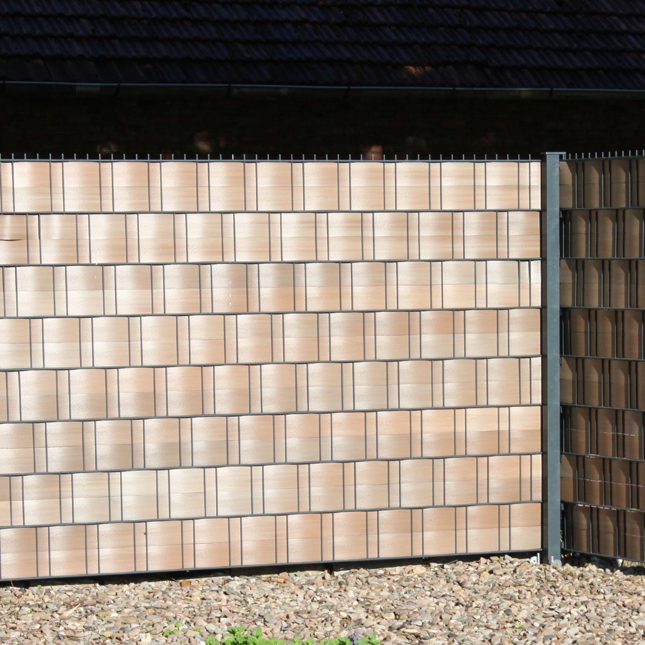 Pvc Sichtschutzstreifen Woodline Hart Kunststoff Braun
