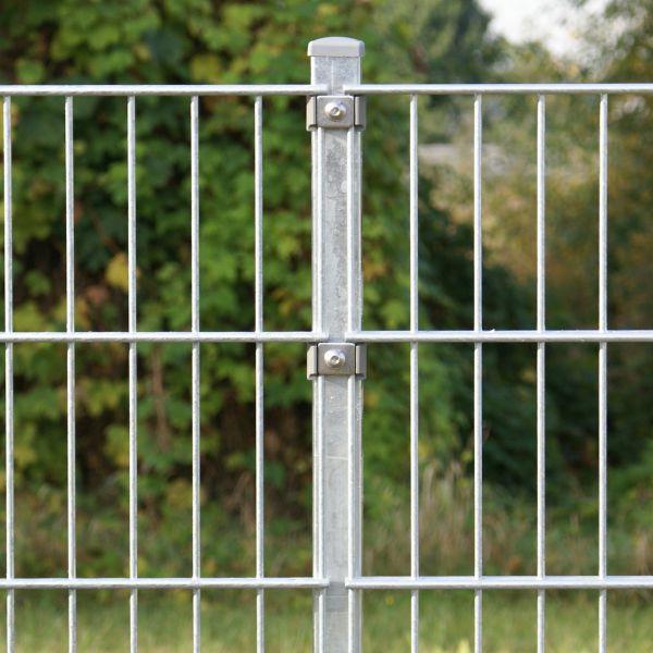 Zaunpfosten für Doppelstabmatte 60cm, verzinkt