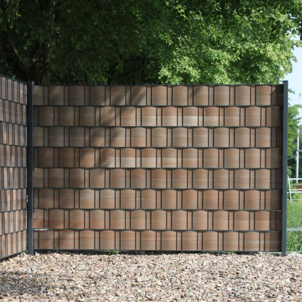 Sichtschutzstreifen Hart-PVC, Woodline braun