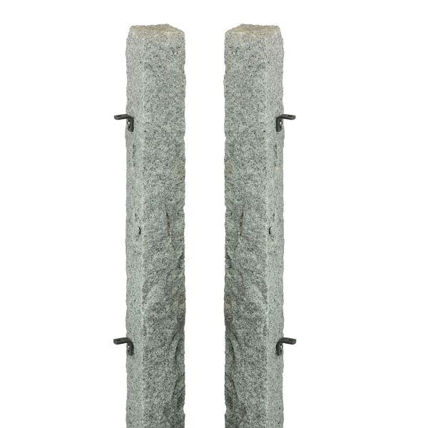 Granitpfosten-Set für Pforte, 20x20 cm, H: 120cm, Anschlag links
