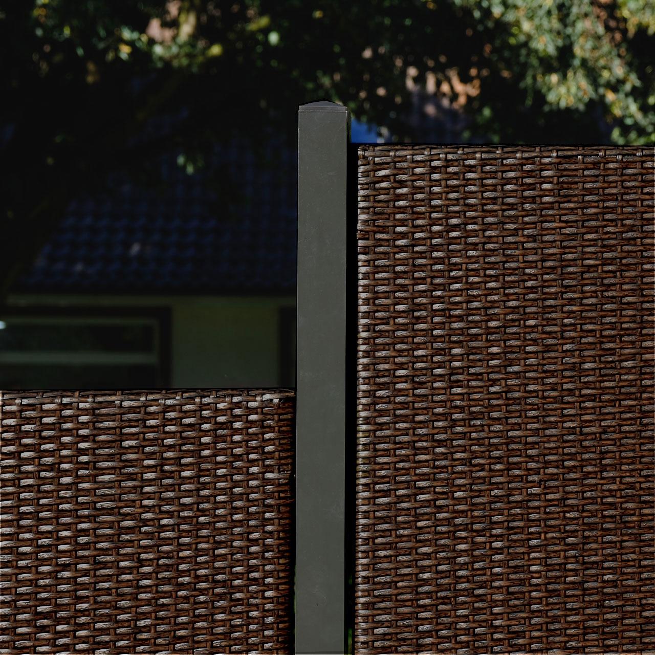 Sichtschutzwand Kunststoff Geflecht Stockholm Braun Sichtschutz