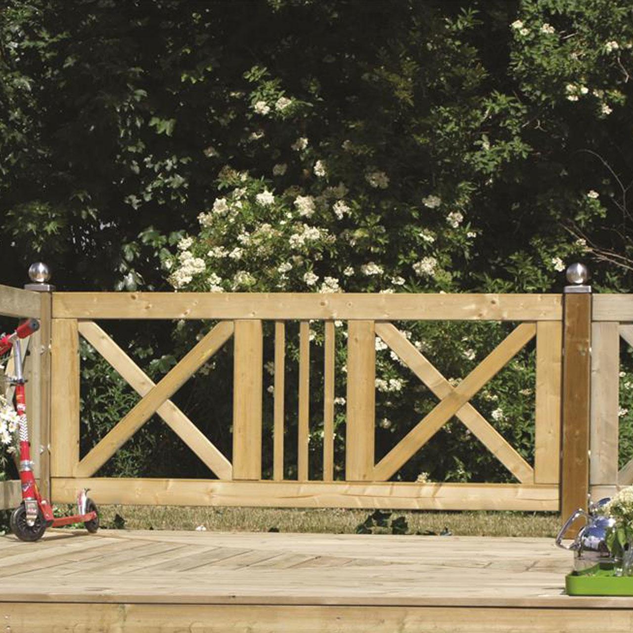 Gartenzaun Holz Slot Druckimpragniert