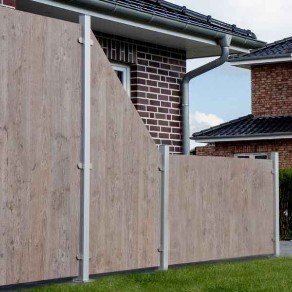 HPL Sichtschutz Premium, Holzoptik