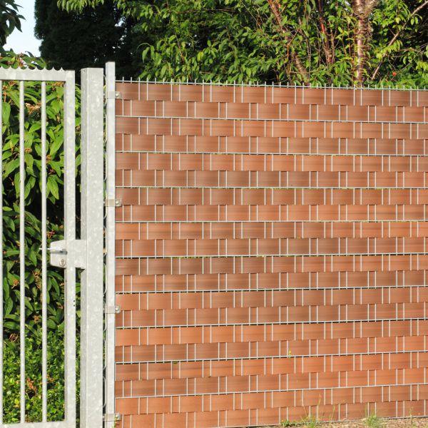 Sichtschutzstreifen Hart-PVC, Woodline nussbaum