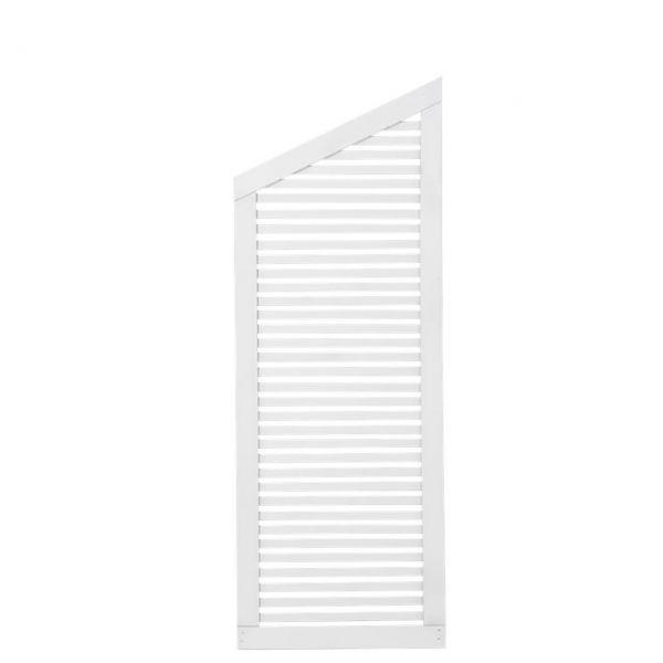 Sichtschutzwand Holz, Silence weiß