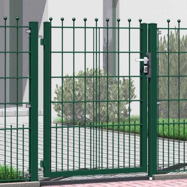 Gartentor Metall Schmuckzaun mit Kugeln 130cm