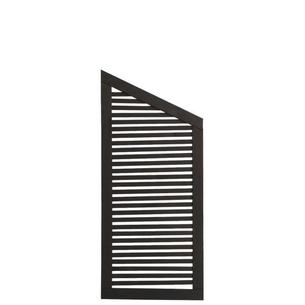 Sichtschutzwand Holz, Silence schwarz