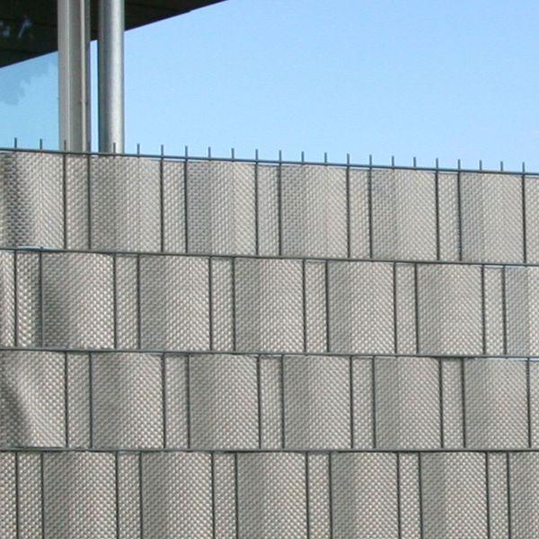 Polyrattan-Sichtschutzstreifen, platin