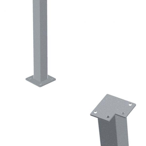Stahlpfosten 4,5 x 4,5 cm für Holz-Handlauf