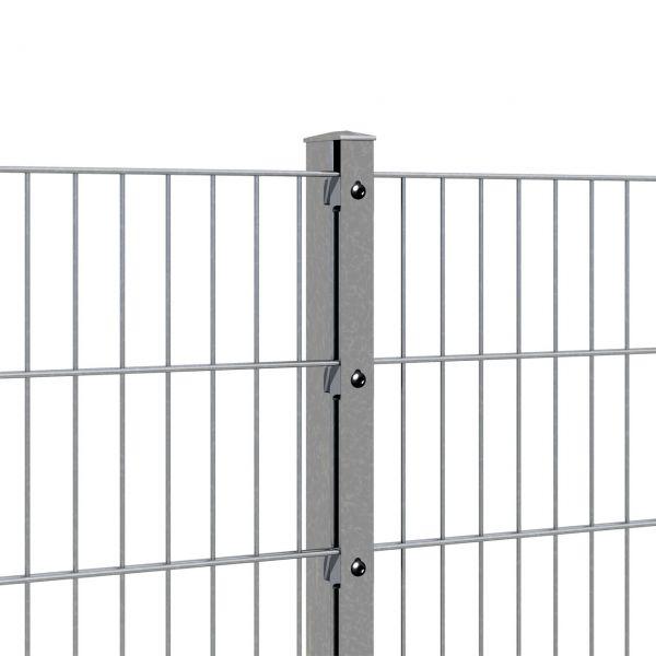 Zaunpfosten für Doppelstabmatte 160cm, verzinkt