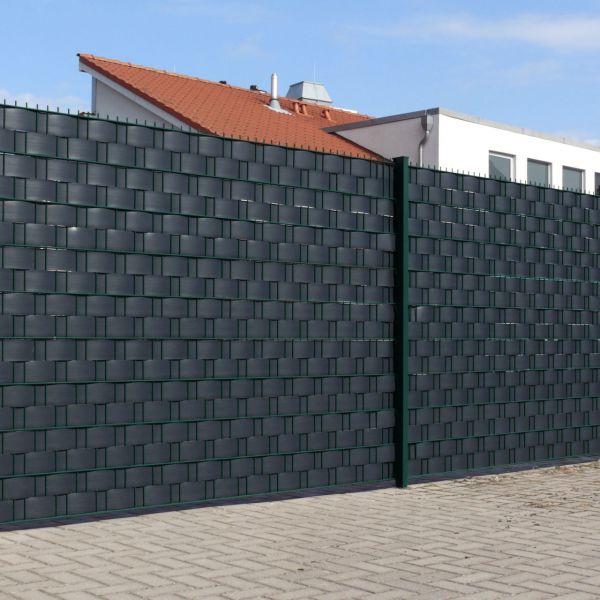 Sichtschutzstreifen Hart-PVC, Woodline anthrazit