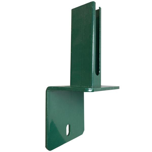 Montagefuß zum Aufdübeln für Pfosten 60x40 mm auf L-Steine, grün