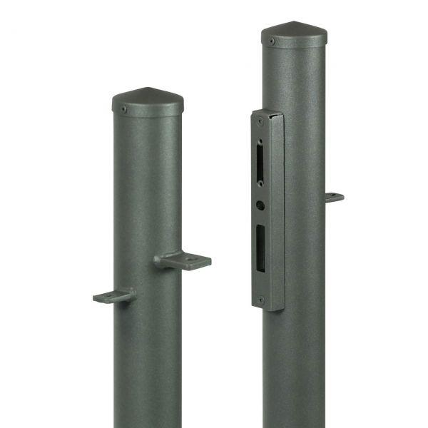 Pfostenset Pforte rund, H: 120cm, Anschlag links