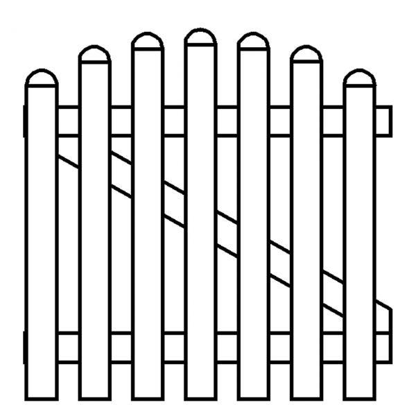 Kunststoffzaun Royal-Line weiß, Hochbogen 90/101cm