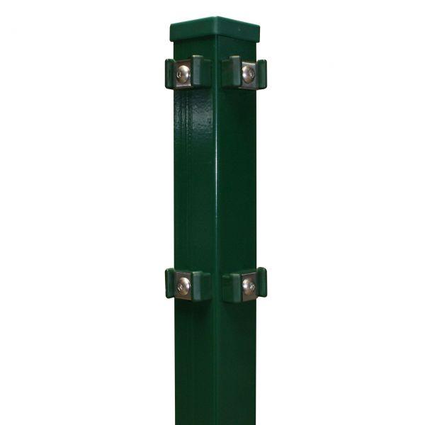 Eckpfosten für Doppelstabmatte 140cm, grün