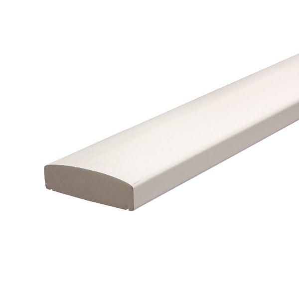 Handlauf Kernholz, Geländer für 9x9 Pfosten, weiß