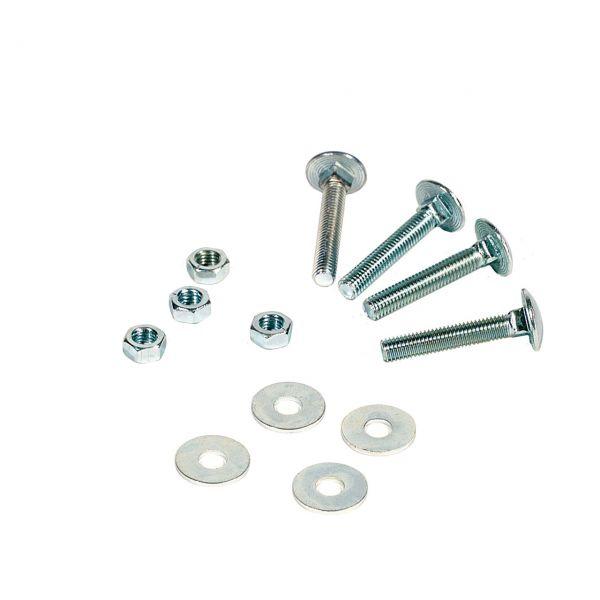 Schraubenset für Metall-Pfosten (Flacheisen)