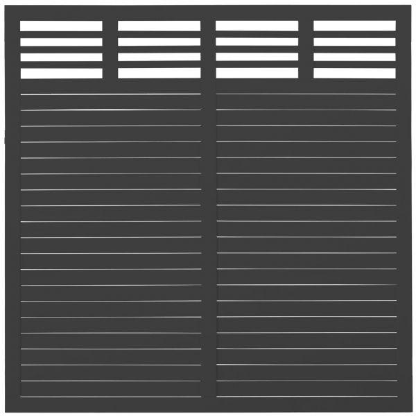 Sichtschutzwand Holz Dekora, schwarz
