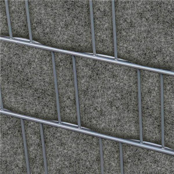 Sichtschutzstreifen PES Gewebe für Stabgitterzaun, Firenze grau
